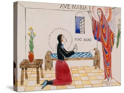 Annunciation, C.1912-Eric Gill-Stretched Canvas Print