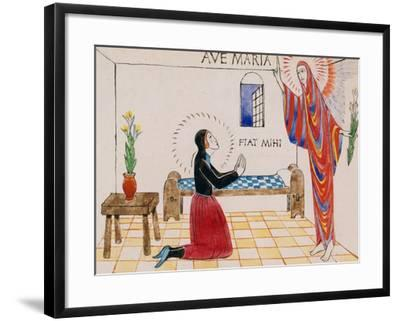 Annunciation, C.1912-Eric Gill-Framed Giclee Print
