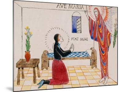 Annunciation, C.1912-Eric Gill-Mounted Giclee Print