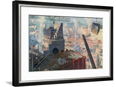 The Building of the Panama Canal, 1912--Framed Giclee Print