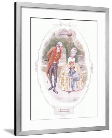 Symptoms of Flirtation Still-Charles Edmund Brock-Framed Giclee Print