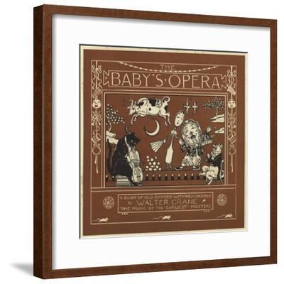 The Baby's Opera-Walter Crane-Framed Giclee Print