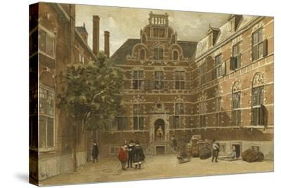 Courtyard of the Oost-Indisch Huis, Amsterdam--Stretched Canvas Print