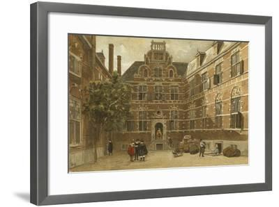 Courtyard of the Oost-Indisch Huis, Amsterdam--Framed Giclee Print