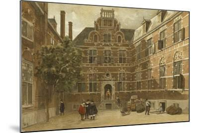 Courtyard of the Oost-Indisch Huis, Amsterdam--Mounted Giclee Print