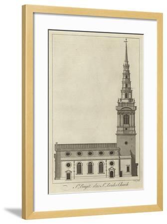 St Bride's Church, London--Framed Giclee Print