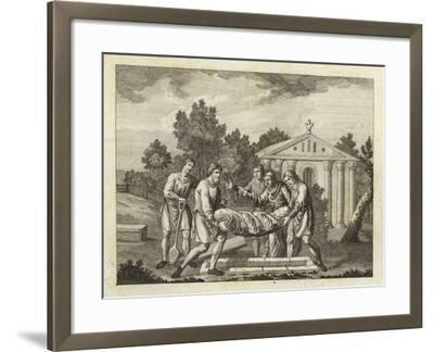 Burial by the Anglo-Saxons and Danes--Framed Giclee Print