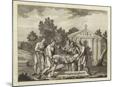 Burial by the Anglo-Saxons and Danes--Mounted Giclee Print