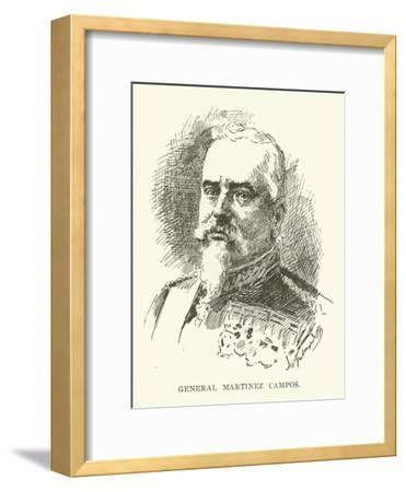 General Martinez Campos--Framed Giclee Print