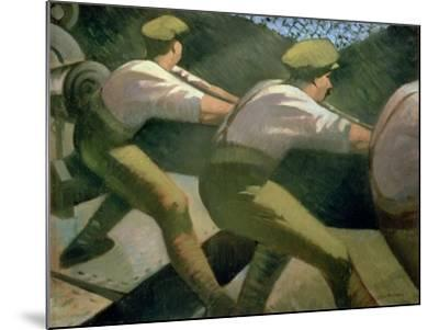 Loading a Gun in the Trenches, 1918-Christopher Richard Wynne Nevinson-Mounted Giclee Print