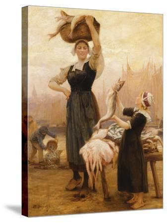 Back to Fishing-Theophile Louis Deyrolle-Stretched Canvas Print