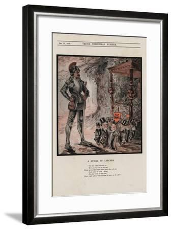 A Strike of Leeches--Framed Giclee Print