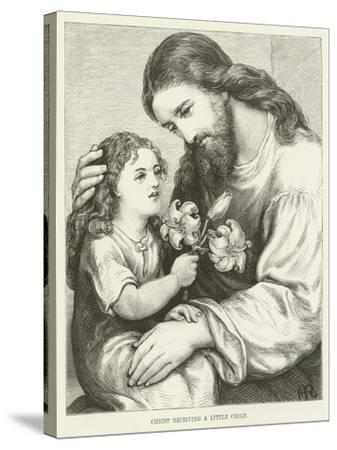 Christ Receiving a Child--Stretched Canvas Print