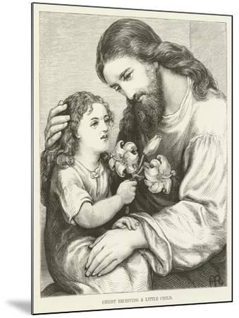 Christ Receiving a Child--Mounted Giclee Print