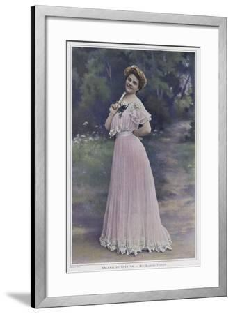 Blanche Toutain, French Actress--Framed Photographic Print