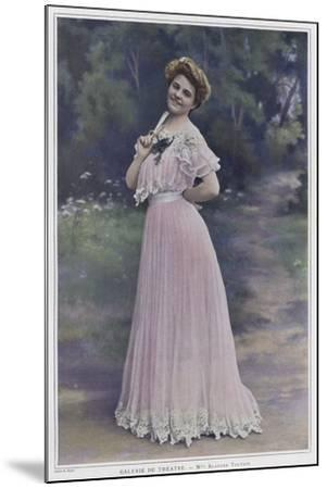 Blanche Toutain, French Actress--Mounted Photographic Print