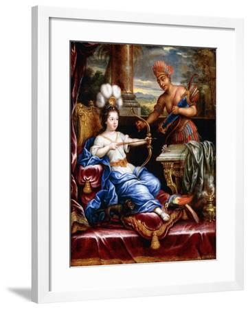 An Allegory of America Paying Homage to Europe-Pierre Mignard-Framed Giclee Print