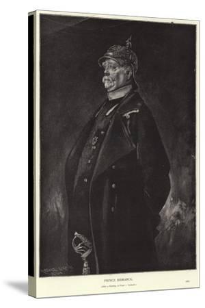 Otto Von Bismarck-Franz Seraph von Lenbach-Stretched Canvas Print
