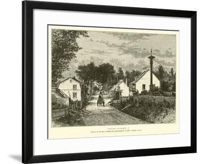 Canadian Village--Framed Giclee Print