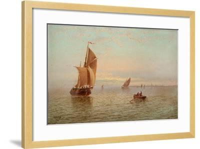 Evening, Coastal Scene, 1892-Thomas Lucop-Framed Giclee Print