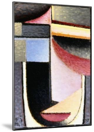 Abstract Head: the Chalice Passed Me, 1929-Alexej Von Jawlensky-Mounted Giclee Print