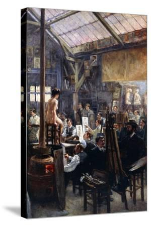 In the Studio-Albert Lynch-Stretched Canvas Print
