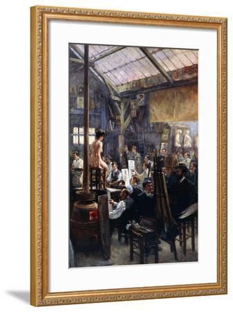In the Studio-Albert Lynch-Framed Giclee Print
