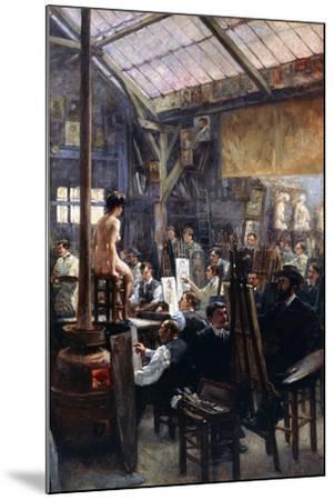 In the Studio-Albert Lynch-Mounted Giclee Print