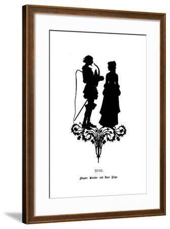 Master Slender and Anne Page-Paul Konewka-Framed Giclee Print