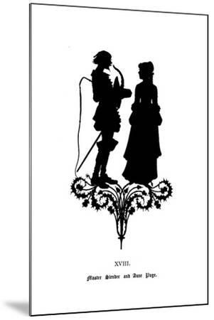 Master Slender and Anne Page-Paul Konewka-Mounted Giclee Print