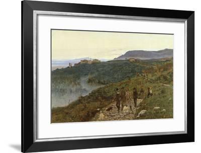 Four Veterans, Circa 1885-Eugenio Cecconi-Framed Giclee Print