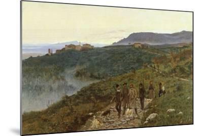 Four Veterans, Circa 1885-Eugenio Cecconi-Mounted Giclee Print