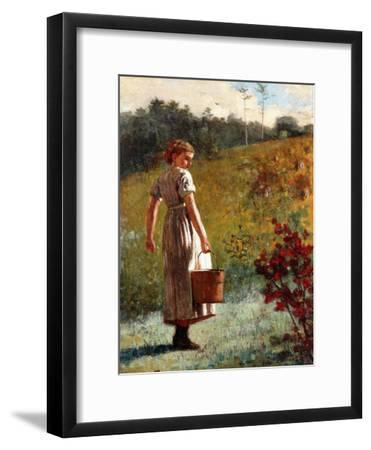 Returning from the Sping, 1874-Winslow Homer-Framed Giclee Print