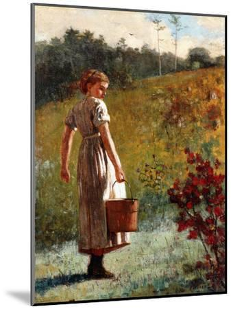 Returning from the Sping, 1874-Winslow Homer-Mounted Giclee Print