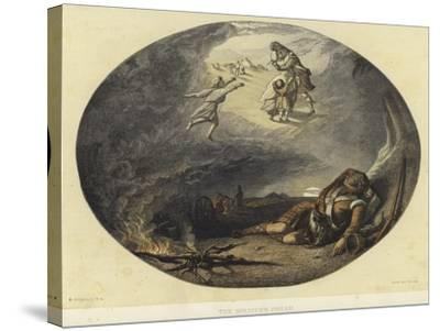 The Soldier's Dream-Edward Angelo Goodall-Stretched Canvas Print