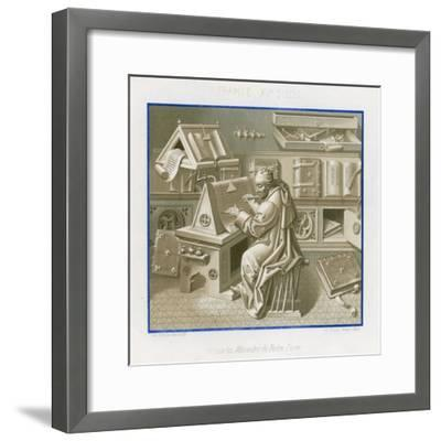 Jean Mielot in the Scriptorium--Framed Giclee Print