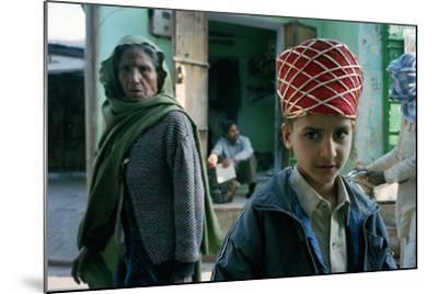 Kid with an Old Woman, Rajasthan, India--Mounted Photographic Print