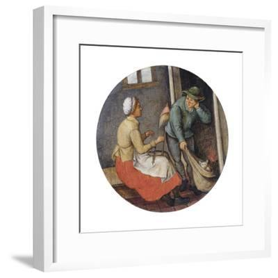 A Proverb - Letting the Cat Out of the Bag-Pieter Brueghel the Younger-Framed Giclee Print