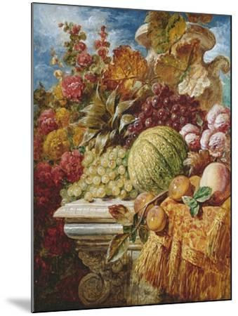 Still Life with Fruit-George Lance-Mounted Giclee Print