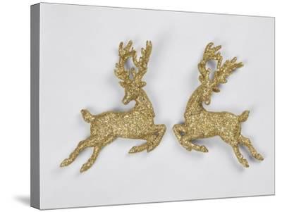 Golden Reindeers--Stretched Canvas Print