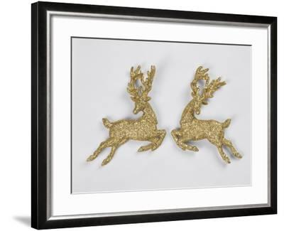 Golden Reindeers--Framed Photographic Print