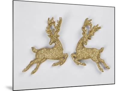 Golden Reindeers--Mounted Photographic Print