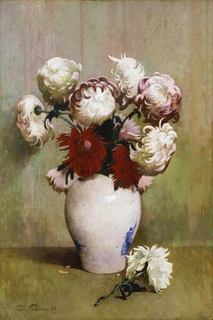 Chrysanthemums, 1893-Emil Carlsen-Stretched Canvas Print