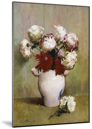 Chrysanthemums, 1893-Emil Carlsen-Mounted Giclee Print