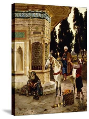 Outside the Palace-Rudolphe Ernst-Stretched Canvas Print