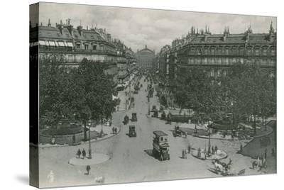 L'Avenue De L'Opera, Avenue of the Opera--Stretched Canvas Print