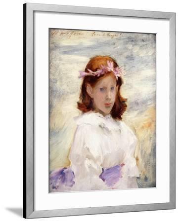Portrait of Teresa Gosse, 1885-John Singer Sargent-Framed Giclee Print