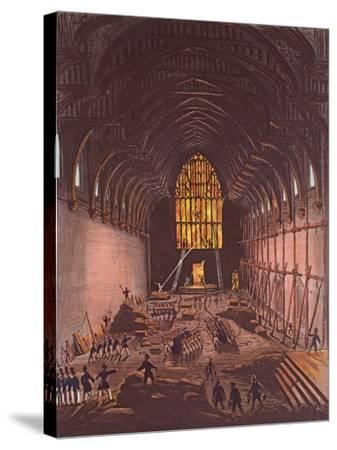 The Interior of Westminster Hall, 1834--Stretched Canvas Print