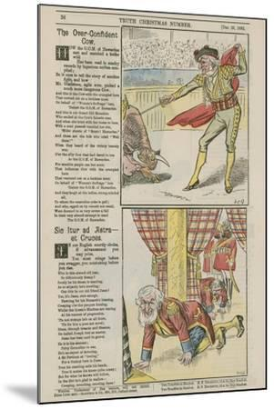 Political Cartoons--Mounted Giclee Print