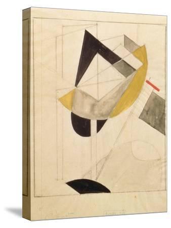 Proun 19, 1920-El Lissitzky-Stretched Canvas Print